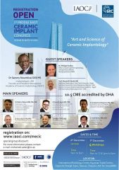 IAOCI –1st Middle East Ceramic Implant Congress~Art and science Ceramic Implantology 2019.12.6-2019.